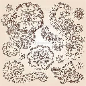 Henna Flowers | Henna Mehndi Doodles Abstract Floral ...