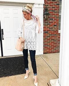 White Blouse Dark Blue Jeans And White Heels Pictures Photos and Images for Facebook Tumblr ...