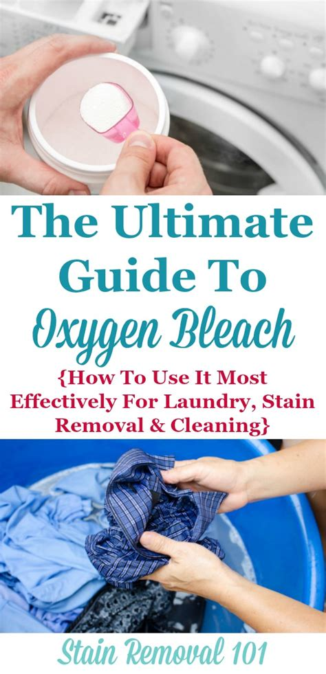 ultimate guide to oxygen bleach uses for laundry stain