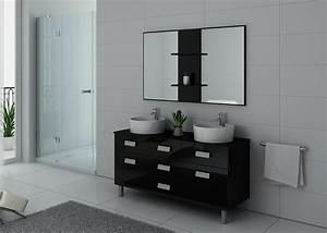 Meuble Vasque Sur Pied : meuble double vasque sur pieds dis911n meuble double vasque noir sur pieds ~ Teatrodelosmanantiales.com Idées de Décoration