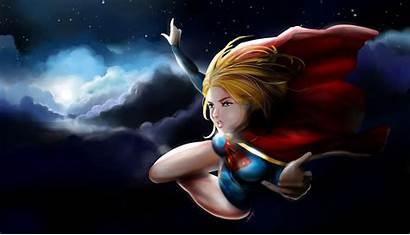 Supergirl Fly Moon Wallpapers Deviantart Comics Wallpapersafari