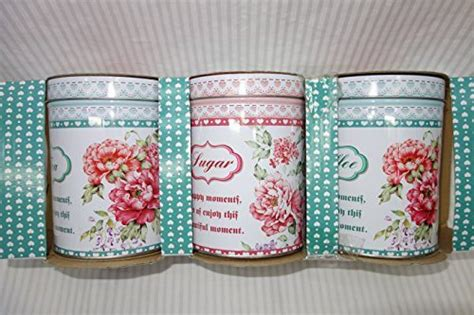 shabby chic tea coffee sugar canisters beautiful tea coffee and sugar storage canisters set shabby chic with set of 3 best tea
