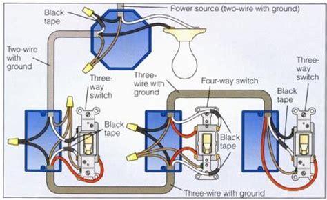 power at light 4 way switch wiring diagram wiring