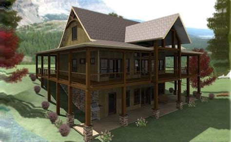awesome lakefront house plans  walkout basement  pictures house plans