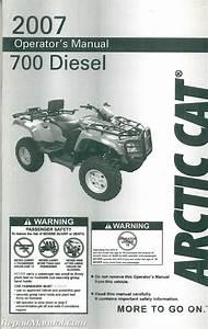 2007 Arctic Cat 700 Diesel Atv Owners Manual
