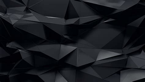Abstract Black by Abstract 3d Rendered Geometric Background With Spikes