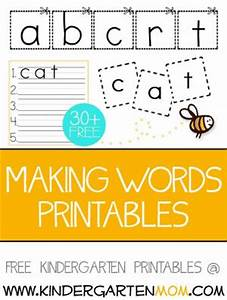 words printables and kindergarten on pinterest With letter tiles for making words