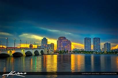 Palm Beach West Florida Downtown Skyline County