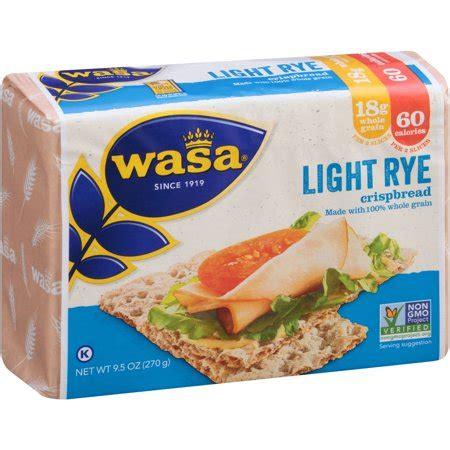 wasa light rye wasa light rye crispbread 9 5 oz walmart