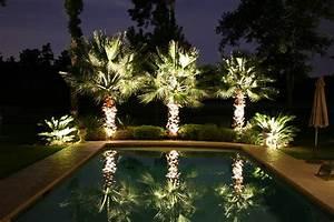 Backyard getaways with landscape lighting