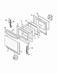 Door Diagram  U0026 Parts List For Model Fef366dsa Frigidaire