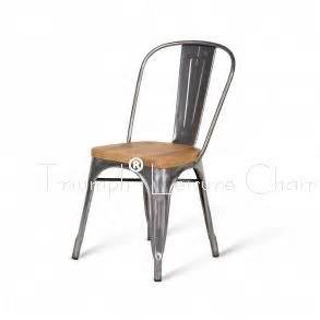 Chaise Metal Tolix by Marais Metal Tolix Chair With Wooden Seat Antique Steel