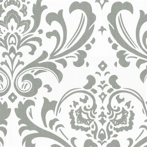 Gray Traditions Damask Fabric By The Yard  Gray Fabric