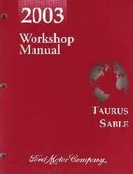 electronic stability control 2003 mercury sable auto manual 2003 ford taurus mercury sable workshop manual