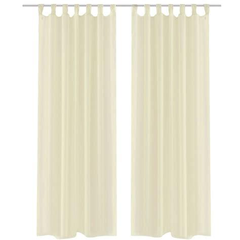 2 Cortinas color crema transparentes 140 x 225 cm tienda online vidaXL es