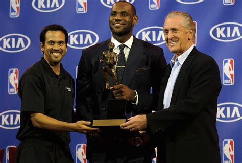 pat on lebron pat lebron never pushed for erik spoelstra s firing slamonline