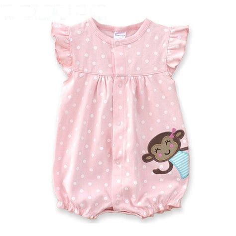 Baby Rompers Summer Baby Girls Clothing Cartoon Newborn Baby Clothes Roupas Bebe Short Sleeve ...