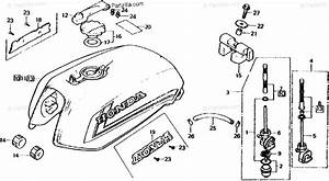Honda Motorcycle 1982 Oem Parts Diagram For Fuel Tank
