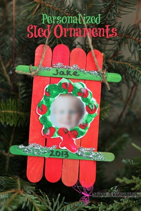 christmas ornament project for pre k sled craft ornament