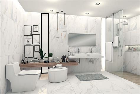 white tile wall cotto beautiful bathroom