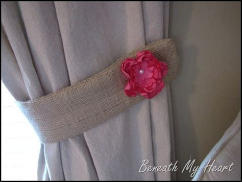 How To Make Burlap Tie Backs By Beneath My Heart