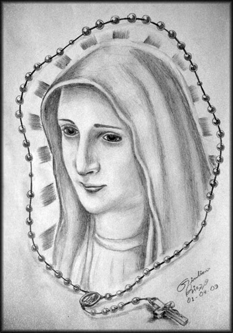 Virgin Mary Design Sketch for Tattoo by Gilrizzo