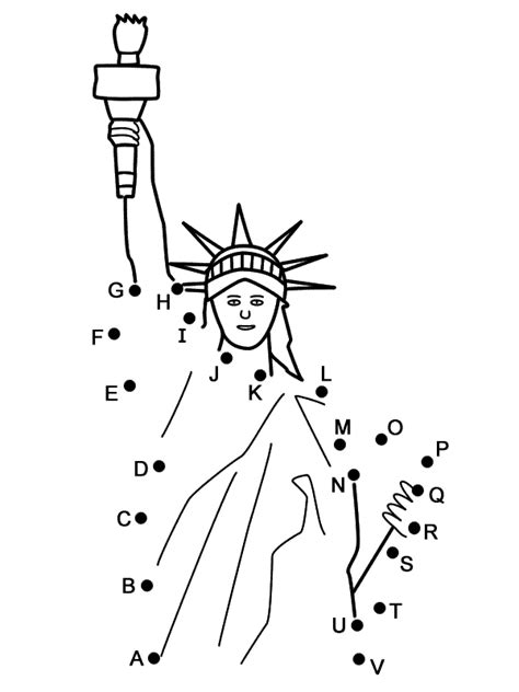 statue  liberty connect  dots  capital letters