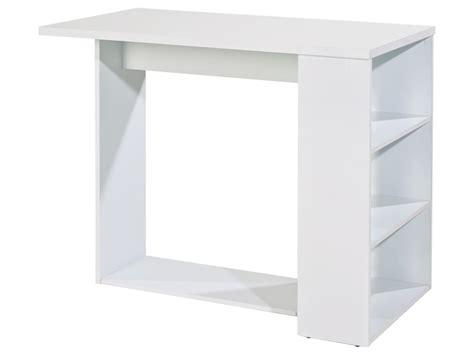 meubles cuisine tables de cuisine coins repas table de bar jordyn coloris blanc