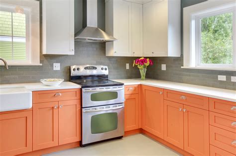 orange kitchens with white cabinets eric denny architecture 187 orange is the new kitchen 7208