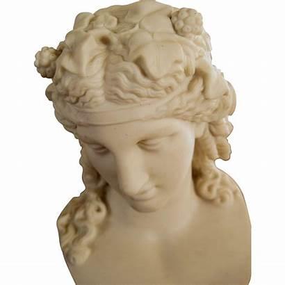 Bust Greek Statues Dionysus Classical Parian Antique