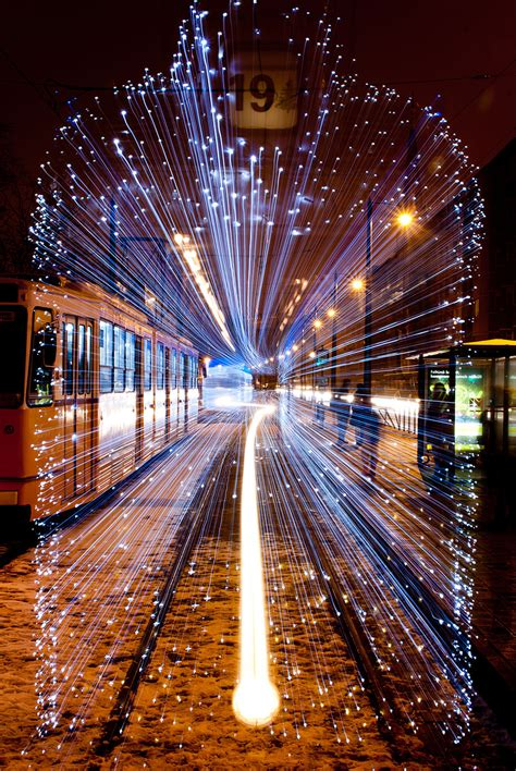 time led lights 30 000 led lights and exposure turn budapest trams