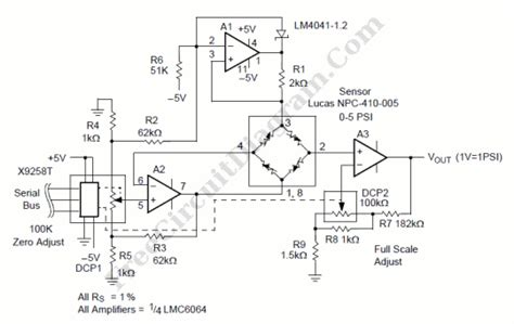 Pressure Transducer Circuit Diagram by Testing And Measurement Page 15 Electronic Circuit Diagram