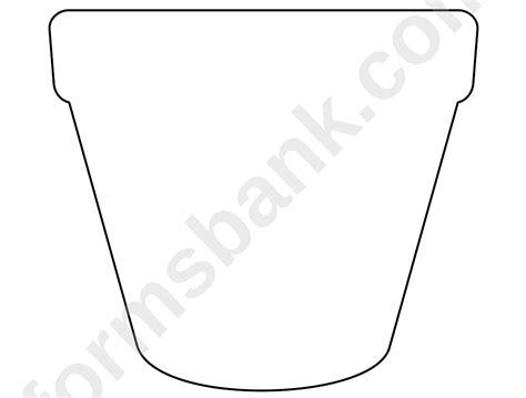 flower pot pattern template printable