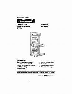 Kenmore 91141389890 User Manual Built In Oven  Electric