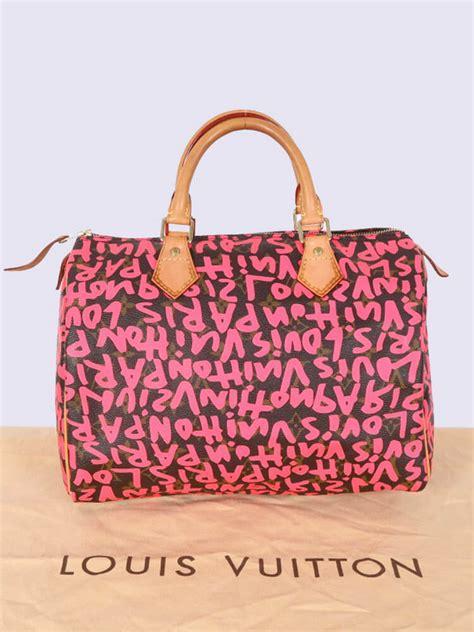 louis vuitton speedy  graffiti stephen sprouse fuchsia luxury bags