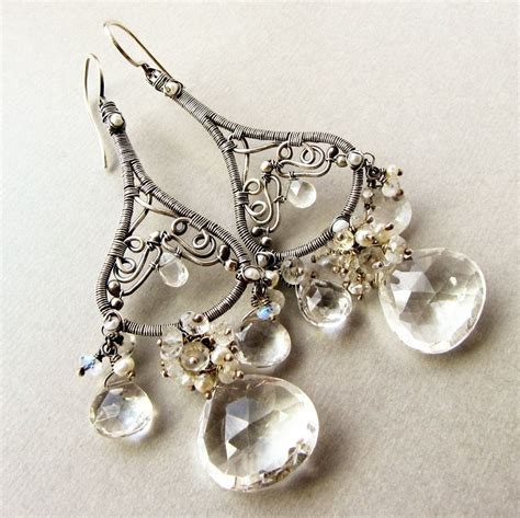 large chandelier earrings crafted large chandelier earrings sterling silver