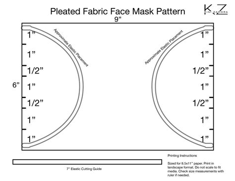 face mask template  zamora