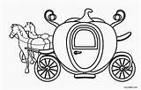 Cinderella Coloring Carriage Drawing Prince Charming Princess Printable Template Clipartmag sketch template