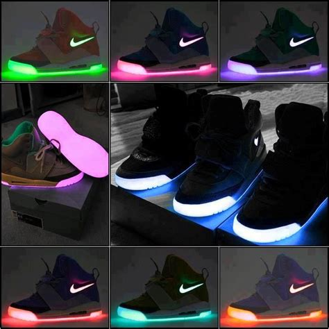 free light up shoes light up neon nike rainbow color shoes pinterest