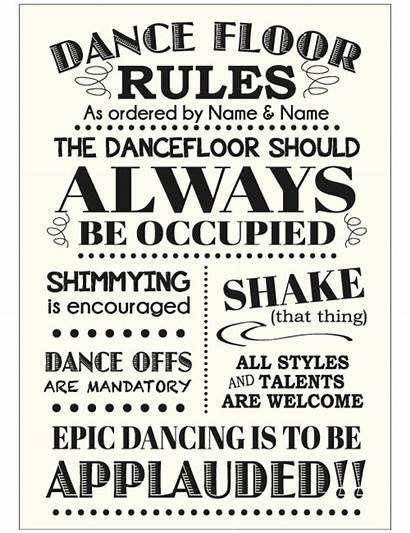 Rules Sign Dancing Ivory Dance Signs