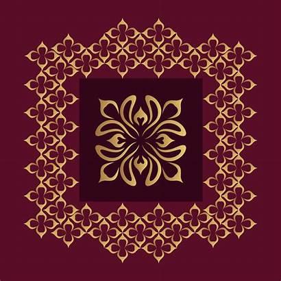 Ornamental Golden Background Vector Luxury