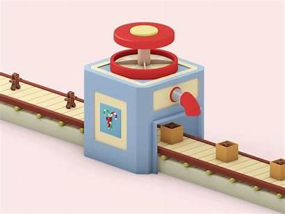 Machine Animation Candy Behance Candybox Factory Box