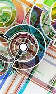 digital Art, Abstract, Circle, Colorful, 3D, Lines, White ...