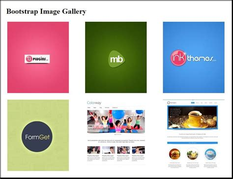 Bootstrap Gallery Bootstrap Image Gallery