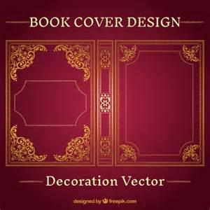 book cover designer ornamental book cover design vector free