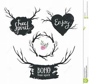 Set Rustic Logo Elements Stock Vector - Image: 59936932