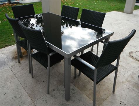 Lawn Table And Chairs by Outdoor Furniture Table 6 Chairs Aluminium Frame With