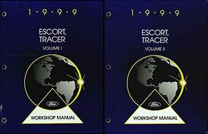 1999 Ford Escort Tracer Service Shop Manual Set 0oem 2 Volume Set And The Wiring Diagrams Manual