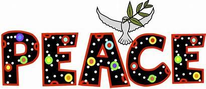 Peace Word Clip Clipart December Faith Border