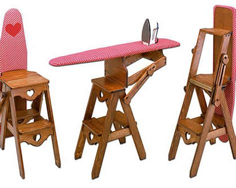 ironing board step stool the bachelor chair is a step stool seat and ironing board